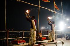 Aarti (A. adnan) Tags: varanasi travel india asia aarti ganges ritual religion hindu ancient custom tradition two twin