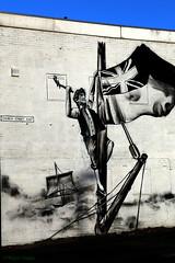Jack Crawford by Frank Styles (MikeOB64) Tags: street art frank styles hendon sunderland naval hero camperdown