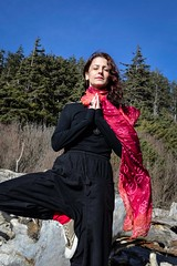 Silence (Dan Panaitescu (light catcher)) Tags: beautifulgirl yoga pacificocean leftcoast nikond610 35mm18 balance sand colorful asseenwithnakedeye