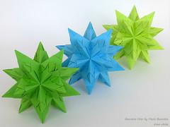 Bascetta Star by Paolo Bascetta (irina_chisa) Tags: origami kusudama palindrome flickrfriday