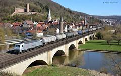 145 086-5 Rhein Cargo (vsoe) Tags: eisenbahn bahn züge güterzug güterzugstrecke bayern baverian gemünden maintal mainvalley engine train freighttrain deutschland germany brücke bridge