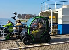 Babe in Biro (Peter ( phonepics only) Eijkman) Tags: zaandam zaanstad zaan zaanstreekwaterland ij noordzeekanaal pont pontveer hempont ferry electric autootje city cars car gvb nederland netherlands nederlandse noordholland holland