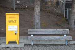 Biohazard (Cindy's Here) Tags: environmentaltrash park biohazard thunderbay ontario canada canon 119 39 needledepot