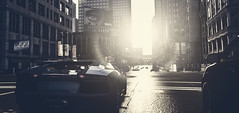 Aventador | Watch Dogs (Stellasin) Tags: beauty beautiful buildings city car cars dark darkness downtown weather reflection game gaming graphics highway photography mods road screenshot sun dogs flare hack hacking chicago aiden sky lambo lamborghini pearce sunrise watch