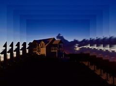 Night House (euanwhite) Tags: picception beach house beachhouse bahamas exuma blue sky night stars dusk sunset vacation