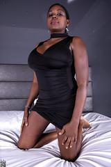 Black elegance (tnekralc) Tags: model kirezi black elegance sexy sex dress head face eyes mouth lips hair shoulders arms hands legs skirt feet nails bed sheets hotel room