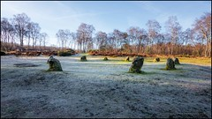 The Nine Ladies stone circle (G. Postlethwaite esq.) Tags: birchover derbyshire nineladies stantonmoor birchtree bracken fog frost grass landscape mist outdoor photoborder sky stonecircle trees unlimitedphotos