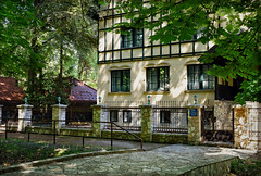 An Idyllic Retreat (Jocelyn777) Tags: foliage path doorsandwindows facades parks hotel ilidza vrelobosne sarajevo bosniaandherzegovina balkans travel textured