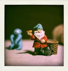 Resin Gnome figurine (N.the.Kudzu) Tags: tabletop stilllife resin gnome figurine canoneosm 7artisans35mmf12 2lilowls lightroom preset poladroid