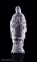 PRECIOSA_27350_statuette Our Lady of Lourdes (PRECIOSA ORNELA) Tags: preciosaornela desna since 1847 decorative traditionalczechglass glass figurine statuette hand made ashtray devotional