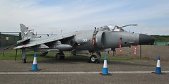 British Aerospace Sea Harrier FA.2 ZH796 at the perimeter fence at RAF Cosford Airshow on 10.06.18 (Trevor Bruford) Tags: british aerospace sea harrier fa2 zh796 raf cosford airshow shropshire west midlands 100 years aircraft airplane planes aviation royal navy jet fighter cold war
