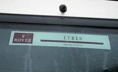 Eyres of Wadebridge Dealer sticker (occama) Tags: yres wadebridge rover dealer sticker car cornwall old