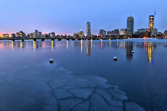 Edge of Winter (MRD Images) Tags: charlesriver river cambridge boston massachusetts city downtown iphone beauty dawn morning early day newengland buildings reflection ice snow winter march am