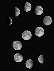 Feb 2019 Moon composite (Roger Hutchinson) Tags: moon phases craters space london astronomy astrophotography canoneos6d canon canonphoto