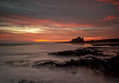 Natures Beauty   (Explored) (lynneberry57) Tags: bamburghcastle northumberland longexposure canon 70d leefilters coast sea water colour sky rocks seascape landscape sunrise beach nature clouds light art sun