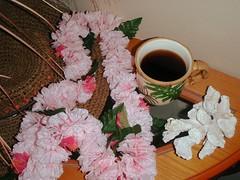 Hawaii .... (Mr. Happy Face - Peace :)) Tags: usa hawaii coffee cup hat leis