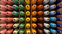 spools.jpg (remiklitsch) Tags: muji spools thread color colorful display pink green gold brown rust blue iphone remiklitsch mint white pattern abstract yellow miksang zen random artistic creative