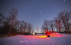 Cold Night Sky (AstroBackyard) Tags: astrophotography night sky constellation orion starry winter cold snow landscape