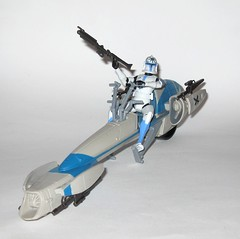 barc speeder bike with clone trooper jesse star wars the clone wars blue black packaging vehicle and figure 2010 hasbro e (tjparkside) Tags: barc speeder bike with clone trooper jesse star wars 2010 hasbro black blue packaging basic action figure figures vehicle vehicles clones troopers blaster blasters rifle rifles phase 1 i bikes speeders galactic battle game stand silver display base general grievous saleucami biker advanced recon commando commandos 501st white