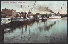 c. 1905 Postcard - The Waterfront and Shipping at Victoria, British Columbia, Canada (Treasures from the Past) Tags: postcard victoria bc britishcolumbia canada harbour waterfront shipping
