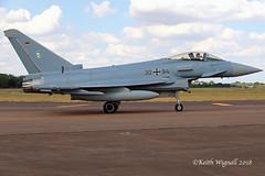 30+90  Typhoon  German Air Force (Keith Wignall) Tags: fairford ffd riat typhoon germanairforce luftwaffe