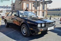 Maserati Biturbo SI 1987 (Monde-Auto Passion Photos) Tags: voiture vehicule auto automobile maserati biturbo coupé noir black sportive rare rareté ancienne classique collection vente enchère osenat france fontainebleau
