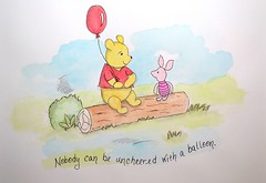 DSC_0002-WinnieThePooh-Main (Just4Crafters) Tags: winnie pooh christopher robin movie disney watercolor bear piglet balloon kids illustration summer whimsical whimsy mixed media pen painting