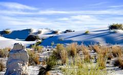 Curious Rock (Mark A. Morgan) Tags: white sands national monumentnew mexicomark a morgan shadows sand dunes