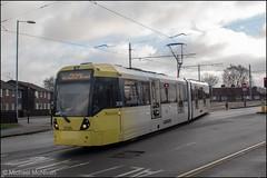 Manchester Metrolink 3086 (Mike McNiven) Tags: manchester metrolink tram metro lrv lightrail victoria marketstreet manchesterairport airport southmoorroad baguley