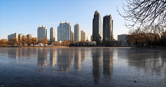 Winter in Chaoyang Park (ArtDen82) Tags: beijing architecture skyscraper design china chaoyangparkplaza city building sky