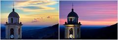 Deux-ciels-et-Clocher (RS...) Tags: corse cervione campanile clocher belltower ciel sky nuages clouds sameplacedifferenttime mêmeendroitautremoment diptyque