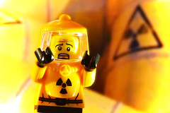 LEGO Hazmat Guy (weeLEGOman) Tags: lego hazmat guy suit yellow radioactive biohazard toxic run away minifigure minifigures toy toys macro nikon d7100 105mm uk rob robert trevissmith