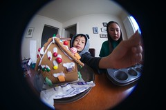 4997 Stuck On (mliu92) Tags: home sanmateo gingerbread house candy frosting calcifer son figgy daughter belomo peleng 835