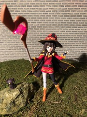 EXPLOSION!!! (Sasha's Lab) Tags: megumin めぐみん chomusuke ちょむすけ konosuba teen girl wizard witch magician crimson demon explosion master figma action figure jfigure gsc
