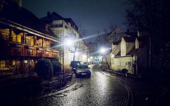 historic (koaxial) Tags: f3049145148stacka munich night street rain wet ground lights reflection urban city münchen koaxial nacht dark illuminated