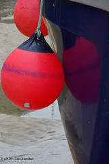 3KB13727a_C (Kernowfile) Tags: cornwall cornish pentax stives cornishharbours buoy boat hull harbour reflections sand