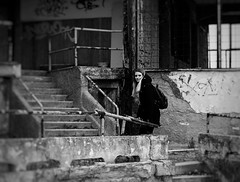 0607bbe3004458c85b17bb910bf65418 (simona.vv) Tags: blackandwhite urbex girl prague czechrepublic