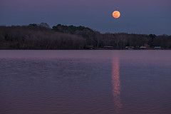 _LCH7288-HDR supermoon (snolic...linda) Tags: fujixt2 501 arkansas conway supermoon lakebeaverfork partybarge oldboat evening bluehour sunset