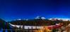 Night Train in the Moonlight at Morant's Curve (Amazing Sky Photography) Tags: alberta banffnationalpark bowriver bowvalley cpr luminar moonlight morant'scurve mounttemple nicholasmorant orion ptgui pleiades sirius continentaldivide night nightscape panorama snow stars timeexposure train winter