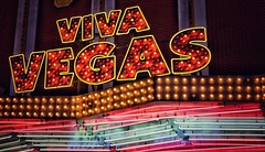 Viva Vegas (podolux) Tags: 2019 april2019 sony sonya7 a7 sonyilce7 ilce7 sign bulbsign signs night nighttime lights editedonipad snapseed postprocessing letters