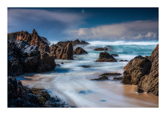 Energy and Atmosphere (Augmented Reality Images (Getty Contributor)) Tags: nisifilters beach benro canon cliffs clouds coastline islands isleoflewis landscape longexposure mangersta outerhebrides rocks sand scotland seascape spring storm sunshine water waves