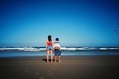 Blue (spannerino) Tags: australia beach colour blue film filmlives lomo lomolca lomography outdoor ocean people vintagecamera 35mm 35mmfilm vignette