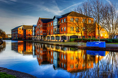 Wigan 09 Jan 2019 00041.jpg (JamesPDeans.co.uk) Tags: goldenhour forthemanwhohaseverything england wigan gb printsforsale industry windows europe canals brickbuilt unitedkingdom canal reflection transporttransportinfrastructure britain water lancashire wwwjamespdeanscouk landscape architecture greatbritain landscapeforwalls jamespdeansphotography uk digitaldownloadsforlicence