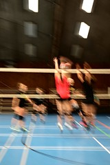Volleyball # 1 (just.Luc) Tags: volleyball volleybal sport sports motionblur red rood rouge rot rosso rojo azul blauw blau bleu blue blu