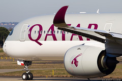 Qatar Airways Airbus A350-1041 cn 215 F-WZNV // A7-ANG (Clément Alloing - CAphotography) Tags: qatar airways airbus a3501041 cn 215 fwznv a7ang toulouse airport aeroport airplane aircraft flight test canon 100400 spotting tls lfbo aeropuerto blagnac aeroplane engine sky ground take off landing 1d mark iv avgeek avgeeks planespotter spotter