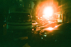 (Hem.Odd) Tags: olympusxa3 agfavista400 night light truck parked cars film
