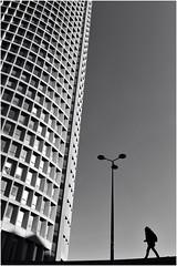 . (an to nin) Tags: lyon partdieu immeuble architecture noirblanc bw