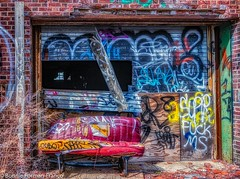 _2019-03-13 ABANDONED BUILDING 4 and COUCH LONG ISLAND_D85_5274- (Bonnie Forman-Franco) Tags: red colorful hdr hdrphotography aurorahdr2019 abandoned abandonedphotography abandonedbuilding abandonedbuildings graffiti graffitiinabandonedbuildings bkue yellow green photoladybon abandonedphoto nikon nikcollection nikond850 nikon2470 photography photographybywomen photographer hdrphotos longisland newyork urbex urbandecay decayed rot