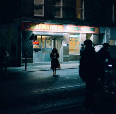 Marmaris (broonie) Tags: selfscan night cinestill800t edinburgh cinestill 6x6 unicorn agfasuperisolette homescan places 120