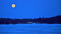 Dawn - Last Moonset of Winter (Bob's Digital Eye 2) Tags: bobsdigitaleye bobsdigitaleye2 canon canonefs55250mmf456isstm dawn flicker flickr frozenlake lake landscape march2019 moonlight supermoon winter2019 laquintaessenza moon moonset
